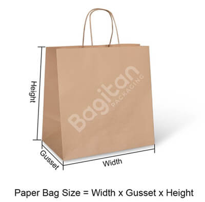 Paper bag size measurement